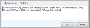 Automatically create the description created automatically at the attribute values selected.